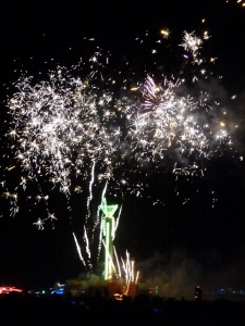 the fireworks before the burn were some of the best i've ever seen